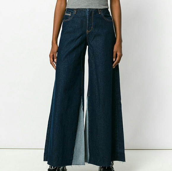 flared jeans with frayed edges - Blue Calvin Klein Fashion Style Manchester Sale Online Clearance How Much Buy Cheap Cheap Visit New nirBX